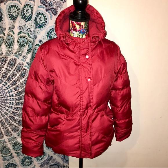 9c8f611a8dceb Faded Glory Jackets & Coats | Deep Red Hooded Puffer Coat | Poshmark